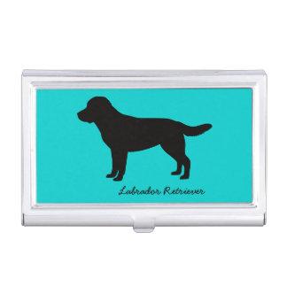 Tenedor de la tarjeta de visita del labrador caja de tarjetas de visita