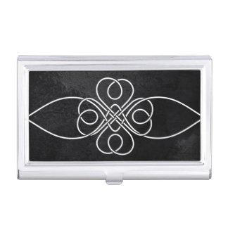 Tenedor de la tarjeta de visita del nudo del caja de tarjetas de presentación