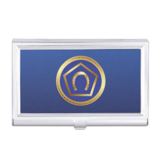 Tenedor de la tarjeta de visita: Logotipo de la Caja De Tarjetas De Negocios
