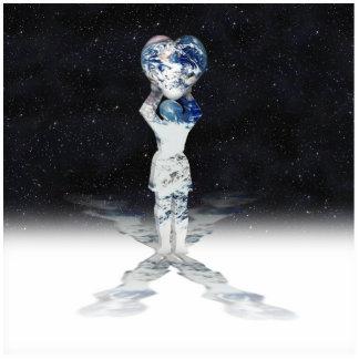 Tenedor del corazón de la tierra (semi fondo del u escultura fotografica