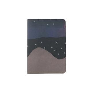 Tenedor del pasaporte con la escena de Nightsky Porta Pasaportes