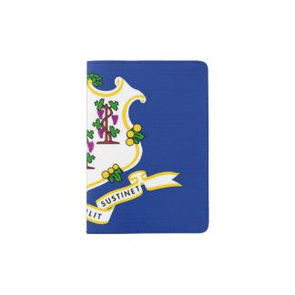 Tenedor del pasaporte de la bandera del estado, porta pasaportes