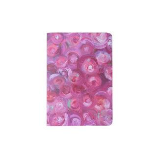 Tenedor del pasaporte de los rosas porta pasaportes