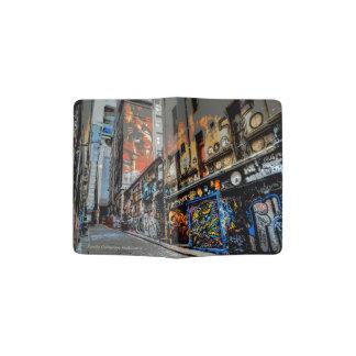 Tenedor del pasaporte del arte de la calle porta pasaportes