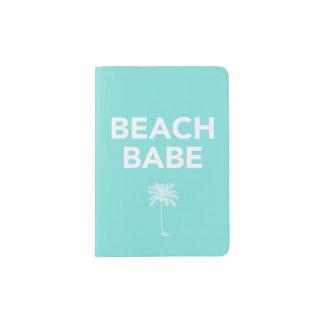Tenedor del pasaporte del bebé de la playa porta pasaportes