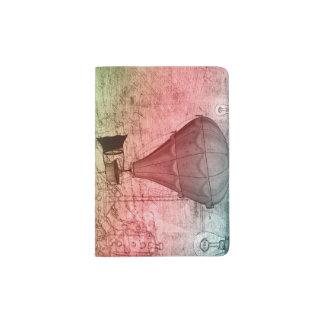 Tenedor del pasaporte del bosquejo del globo de porta pasaportes
