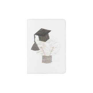 Tenedor del pasaporte del bulbo del graduado portapasaportes