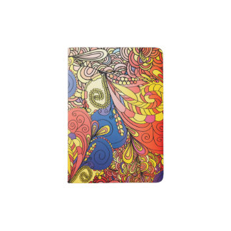 Tenedor fantástico del pasaporte del arte del porta pasaportes