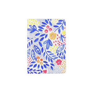 Tenedor floral intrépido del pasaporte de la porta pasaportes