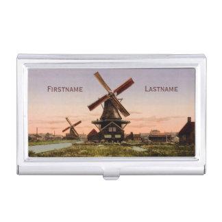 Tenedor holandés de la tarjeta de visita de los caja de tarjetas de negocios