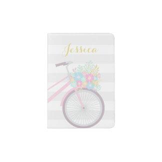 Tenedor lindo del pasaporte de la bicicleta de la portapasaportes