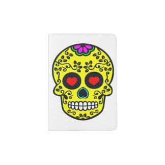 tenedor mexicano del pasaporte del cráneo portapasaportes