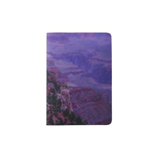 Tenedor púrpura del pasaporte del Gran Cañón Portapasaportes