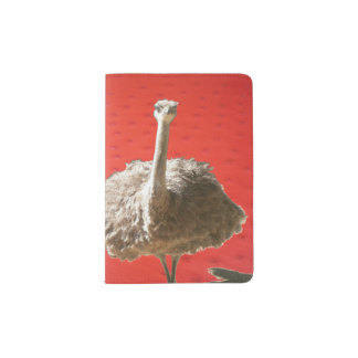 Tenedor surafricano del pasaporte de la avestruz portapasaportes
