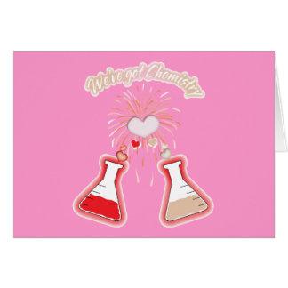 Tenemos química tarjeta de felicitación