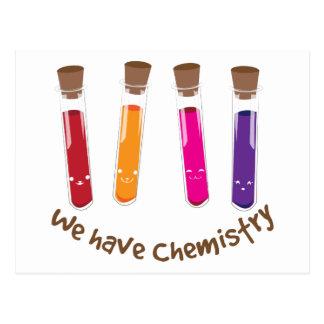 Tenemos química tarjetas postales