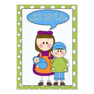 ¡tenemos un hermano del bebé! invitación