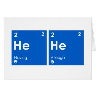 Tener una risa tarjeta de felicitación