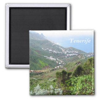 Tenerife 10 imán cuadrado