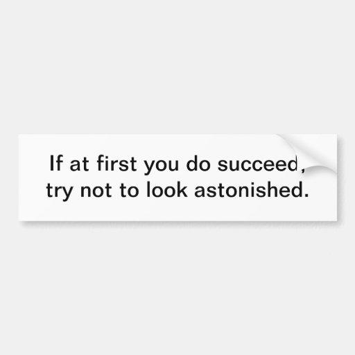 Tenga éxito etiqueta de parachoque
