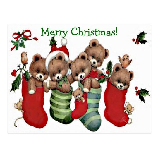 ¡Tenga Felices Navidad de un Beary! - Postal del