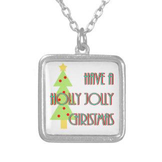 tenga mediados de siglo alegres del navidad del collar plateado