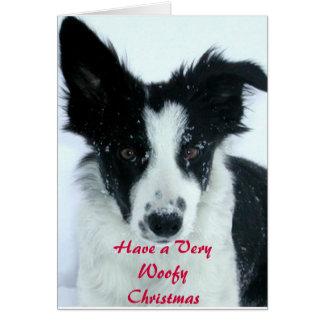 Tenga navidad de un Woofy Tarjeta De Felicitación