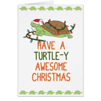 Tenga navidad impresionante de una Tortuga-y Tarjeta De Felicitación