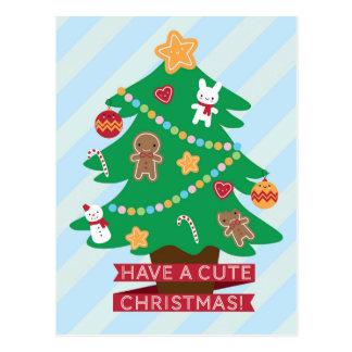 Tenga navidad lindo postal