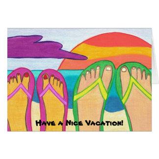 ¡Tenga Niza vacaciones! tarjeta de felicitación