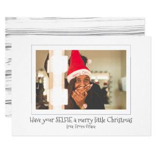 Tenga su Selfie los Felices pequeños Navidad Invitación 12,7 X 17,8 Cm