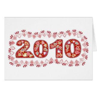 tenga un 2010 precioso tarjeta