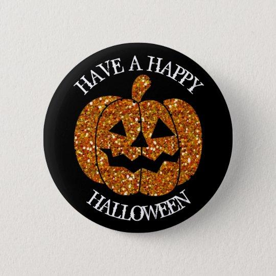 Tenga un botón de la calabaza del feliz Halloween