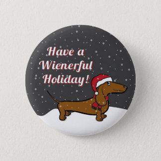 Tenga un botón del día de fiesta de Wienerful