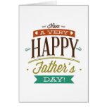 Tenga un día de padre muy feliz tarjeta de felicitación
