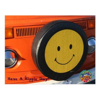 ¡Tenga un día del Hippie! Postal