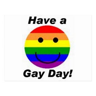 ¡Tenga un día gay! Postal