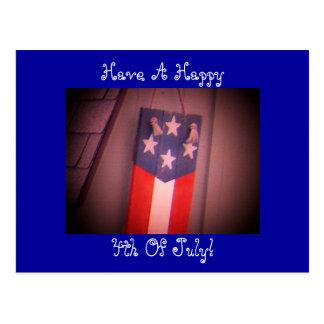¡Tenga un feliz, 4to de julio! Postal