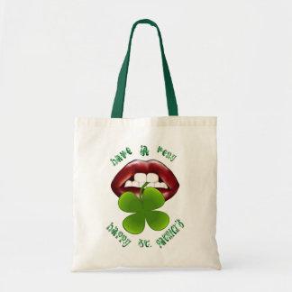 Tenga un feliz - los bolsos de los labios del tréb bolsas