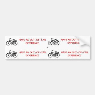 Tenga un pegatina de la bici in-1 de la experienci pegatina para coche