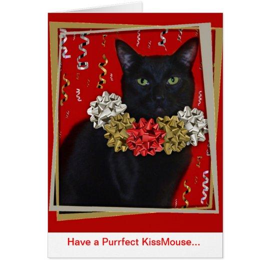 Tenga un Purrfect KissMouse… Tarjeta De Felicitación