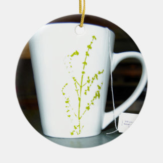 ¡Tenga un té de O de la taza! Adorno De Cerámica