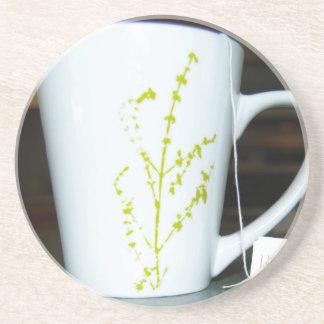 ¡Tenga un té de O de la taza! Posavasos De Arenisca