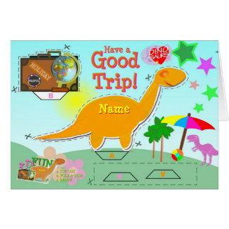 Tenga una buena tarjeta del dinosaurio del viaje