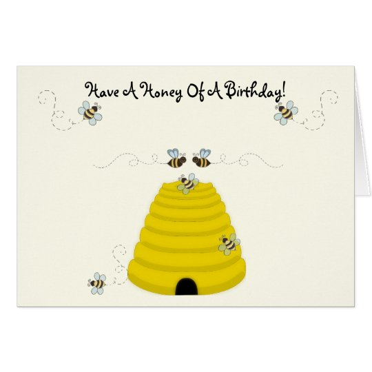 Tenga una miel de un cumpleaños tarjeta de felicitación