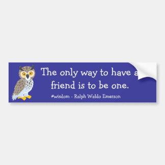 Tenga una pegatina para el parachoques del amigo pegatina para coche