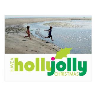 Tenga una postal alegre de la foto del navidad del