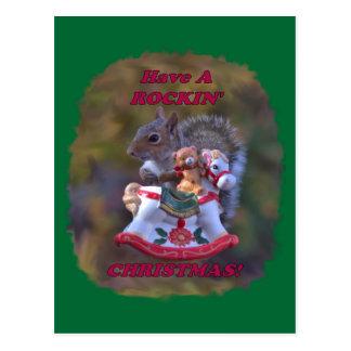Tenga una postal del navidad de Rockin