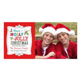 Tenga una tarjeta alegre de la foto del día de