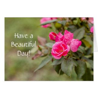 Tenga una tarjeta de felicitación hermosa del día